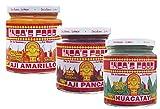 Inca's Food Mixed Sampler - Aji Amarillo, Aji Panca, and Huacatay - (3) 7.5 Oz Jars