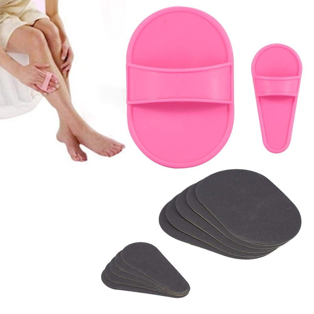 Portable Body Depilatory Sanding Device Backing Pad Abrasive Papers Hair Removal Tool Set Zerone