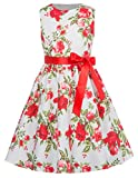 GRACE KARIN Girls Floral Party Cocktail Rockabilly Swing Dresses 9-10yrs CL8997-3