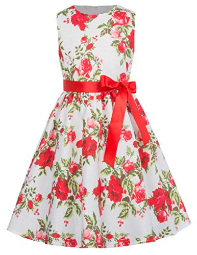 GRACE KARIN Girls Floral Party Cocktail Rockabilly Swing Dresses 9-10yrs CL8997-3 by GRACE KARIN