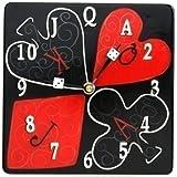 BigKitchen Poker Game Red Black Analog Wall Clock