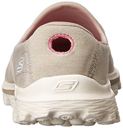 2 Stivaletti Donna Skechers Sock Gowalk Taupe Marrone Super 5w8qqRU