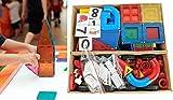 LARGE KIDS MAGNETIC TOYS 3D BUILDING ROBOTS BLOCK TILES 150 Pieces Set CLICKINS PUZZLE 26 ALPHABETS LETTERS 10 NUMBERS