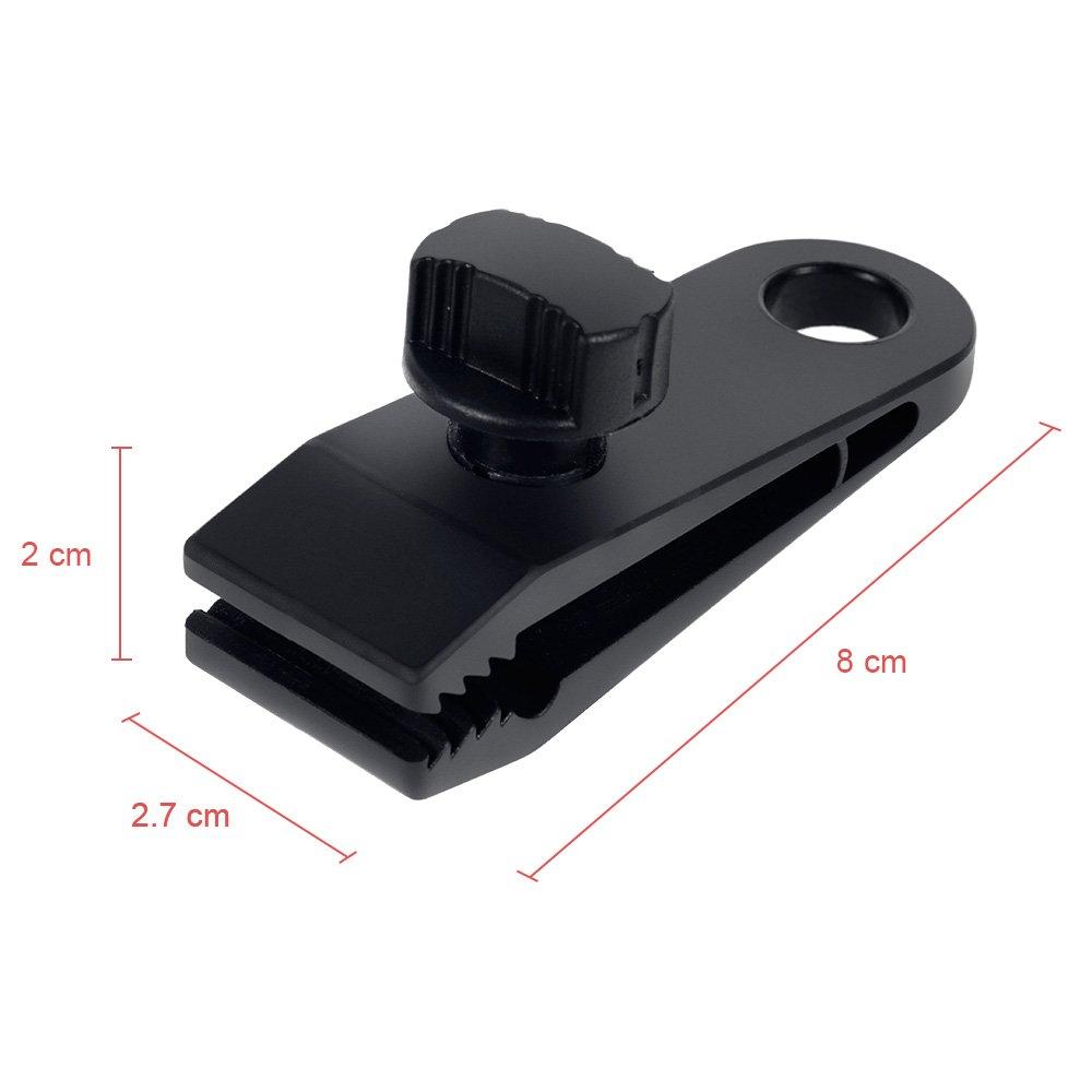 Color Negro Juego de 6 Abrazaderas para toldo con Clip instant/áneo para Tienda de campa/ña Rovtop