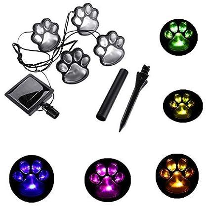 Amazon.com: Rebecca Online Solar luces de huellas (Juego de ...