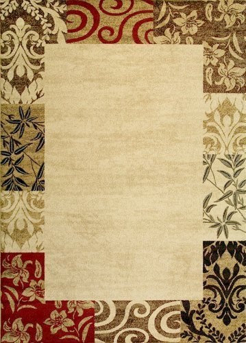 Well Woven Barclay Vane Willow Damask Beige Modern Area Rug 5