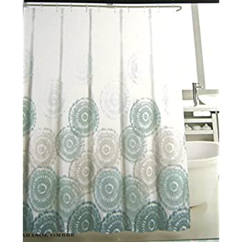 blue and gray shower curtain. Max Studio Parasol Ombre Shower Curtain Blue 72 In  X Amazon com