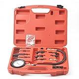 WIN.MAX 16 Pc Diesel Engine Compression Pressure Testing Kit 70 Bar Cars Vans