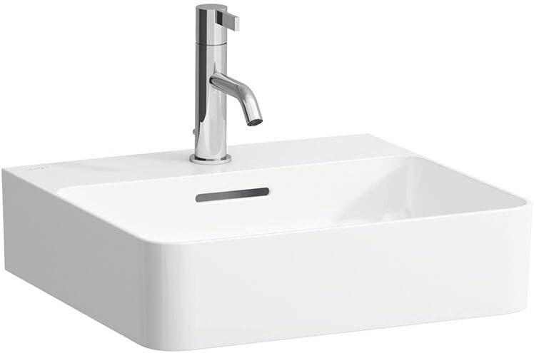 wei/ß mit /Überlauf Laufen VAL Handwaschbecken ohne Hahnloch Farbe: Wei/ß 450x420