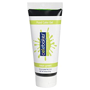 Celebakes by CK Products Neon Green Food Color Gel, 8.5 oz Tube