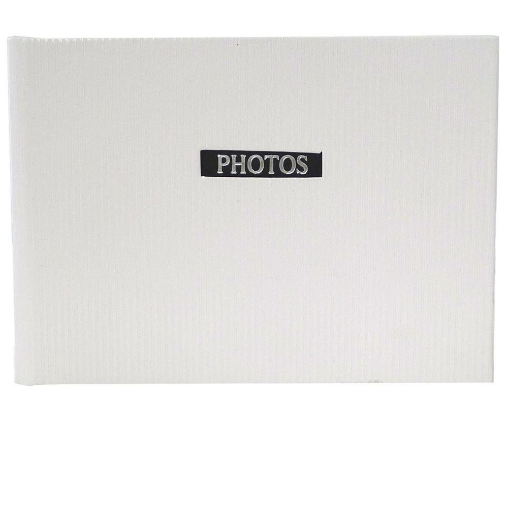 DORR Elegance Slip-In Photo Album for 36 Photos, White, 6 x 4-Inch 850565WHT