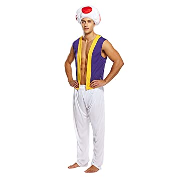 ADULTS MENS MUSHROOM COSTUME SUPER BROS TOAD MARIO KARTS FANCY DRESS OUTFIT (LARGE HB-  sc 1 st  Amazon UK & ADULTS MENS MUSHROOM COSTUME SUPER BROS TOAD MARIO KARTS FANCY DRESS ...