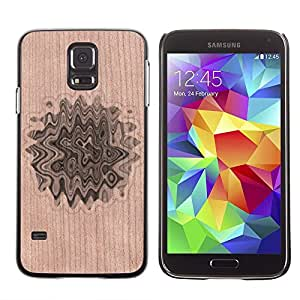 // MECELL CITY PRESENT // Cool Funda Cubierta Madera de cereza Duro PC Teléfono Estuche / Hard Case for Samsung Galaxy S5 /// Abstract Biology Pattern Floral ///