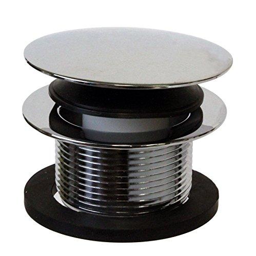 """Westbrass 1-1/2"""" NPSM Coarse Thread Tip-Toe Bathtub Drain Plug, Polished Chrome, D398R-26"""