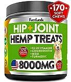 FurroLandia Hemp Hip & Joint Supplement for Dogs - 170 Soft Chews -...