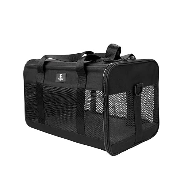 X-ZONE PET Airline Approved Soft-Sided Pet Travel Carrier for Dogs and Cats 4