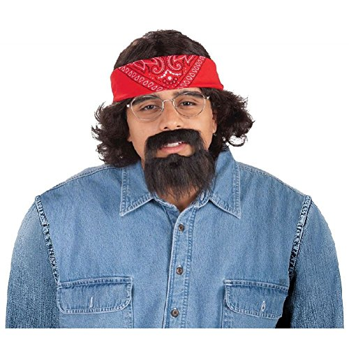 Chong Halloween Costumes (Cheech and Chong Costume Kits Funny 70s Adult Halloween Fancy Dress)