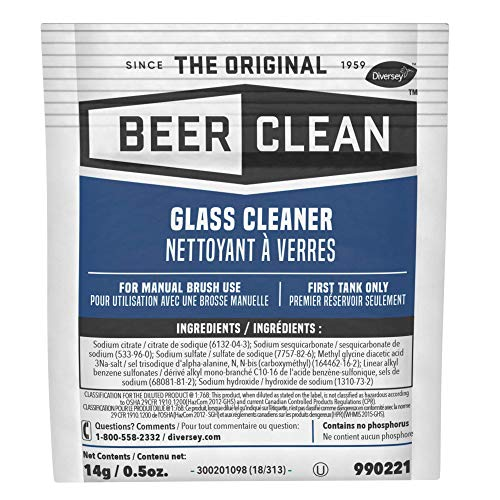 - Diversey Beer Clean Glass Cleaner (0.5 Ounce, 100-Pack)