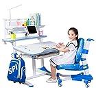 心家宜 儿童成长桌椅套装 王子蓝 M105R_M200R+606 1600元