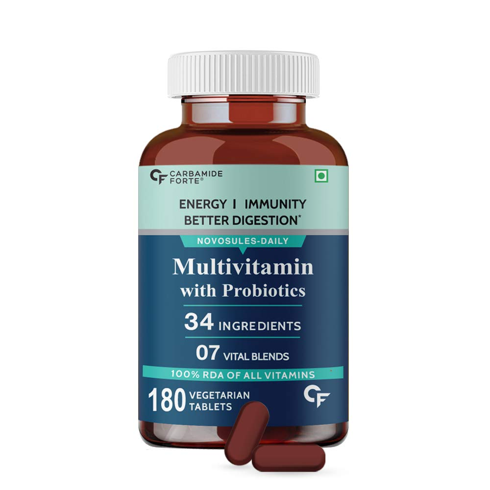 Carbamide Forte Multivitamins for Men & Women with 34 Ingredients - 180 Tablets