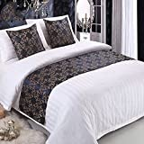 yazi Bed Runner Scarf Protector Slipcover Pad Decorative Wedding Table Bed Runner 20x95