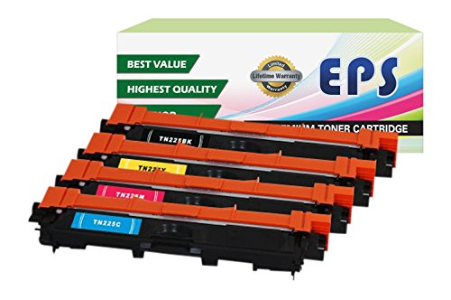 EPS Replacement 4PK Brother TN221 TN225 Replacement Toner Set for MFC-9330CDW MFC-9340CDW (Eps Replacement Brother Tn Toner compare prices)