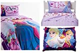 Disney Frozen Complete 5 Piece Twin Bed in a Bag - Reversable Comforter, 3 Piece Sheet Set and Plush Pillow by Disney Frozen