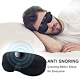 Smart Snore Stopper H-Fun Anti Snoring Device Eye Mask Style Sleep Aid Stop Snoring Solution, Bluetooth Records and Analyzes Sleep Function for Better Sleep【2018 New Version】for Men Women