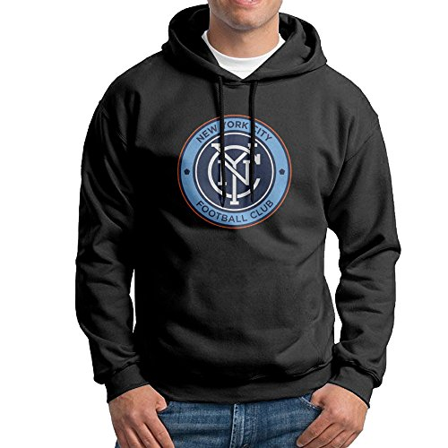 Men New York City FC Official Badge Hoodies Sweatshirts Cool Hoodies Funny