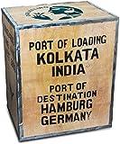 Original Teekiste Darjeeling Indien Teebox groß aus Holz Übersee 40 x 50 x 60 cm