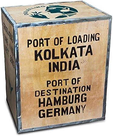 Original Teekiste Darjeeling Indien Gross Aus Holz Bersee 40 X 50 60 Cm