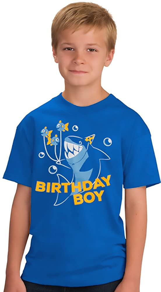 Birthday Boy Shark | Ocean Themed Shark & Fish B-Day Party Youth T-Shirt