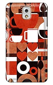 Simply Case Designs Vintage Coffee Story Design PC Material Hard Case For Samsung Galaxy N9000 Note 3