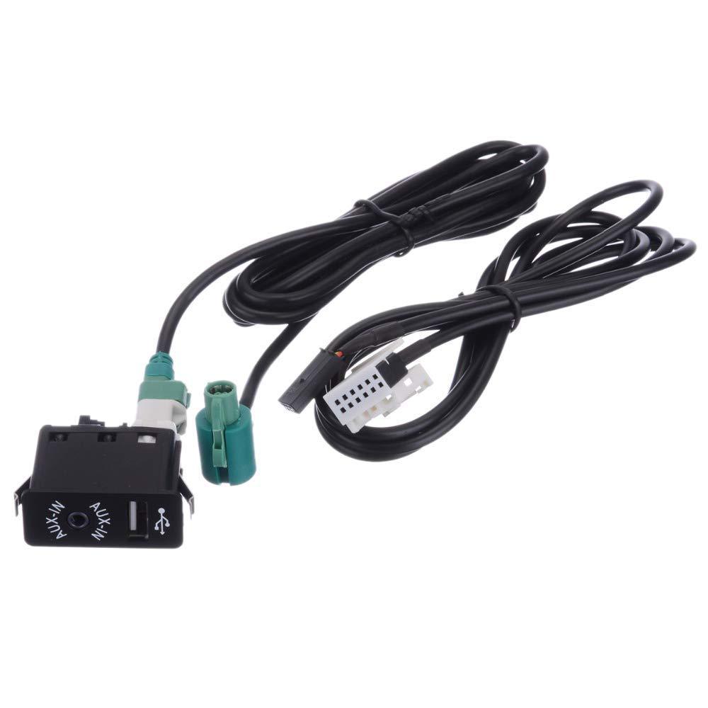 AUX USB Steckdose Schalter Kabel Für BMW E60 E61 E63 E64 E87 E90 E70 F25 Neu