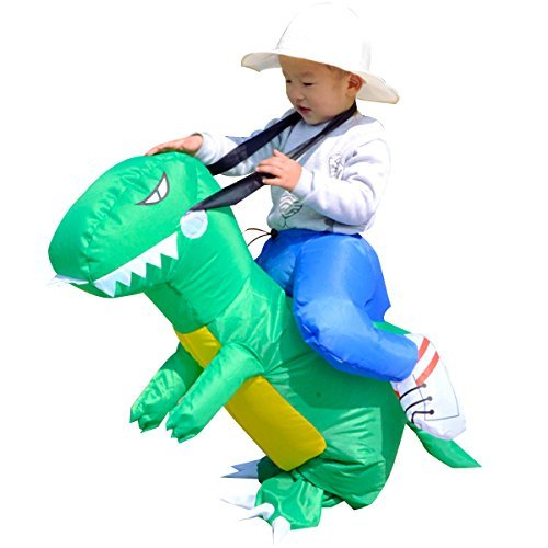Baby Toddler Inflatable Dinosaur Rider Costume Halloween Party Funny Dress Toy For Kids 2-5 -