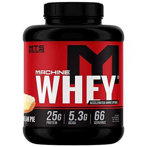 Hard Fast Banana (MTS Nutrition Machine Whey, Great Tasting Protein for Building Muscle, Banana Cream Pie, 5 Lbs (2270g))