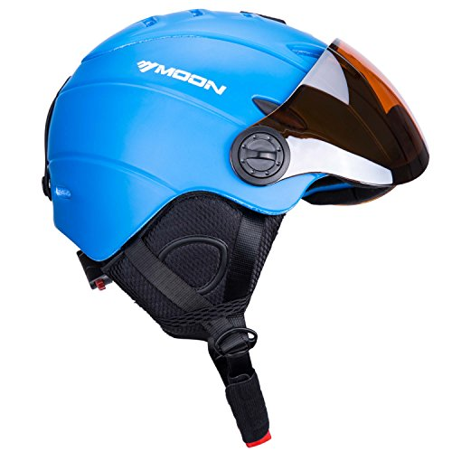 UNISTRENGH Ski Snowboard Helmet with Attached Detachable Photochromatic Polarizing Goggles