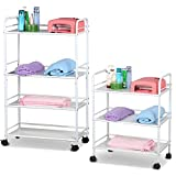go2buy 3 Shelf & 4 Shelf Large Salon Beauty Trolley Cart Spa Storage Dentist Wax Treatments
