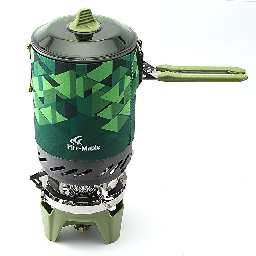 Fire-Maple FMS-X2/FMS-X3 Personal Cooking System Outdoor Hiking Camping Equipment Oven Portable Best Propane Gas Stove Burner (FMS-X2 Green)