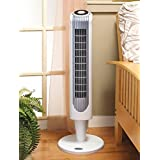 Portable Oscillating Tower Fan with Remote Control Floor 3 Speed Cool Breeze