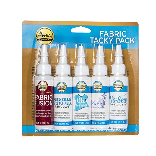 Aleene's Tacky Pack Fabric Glue, 5pk