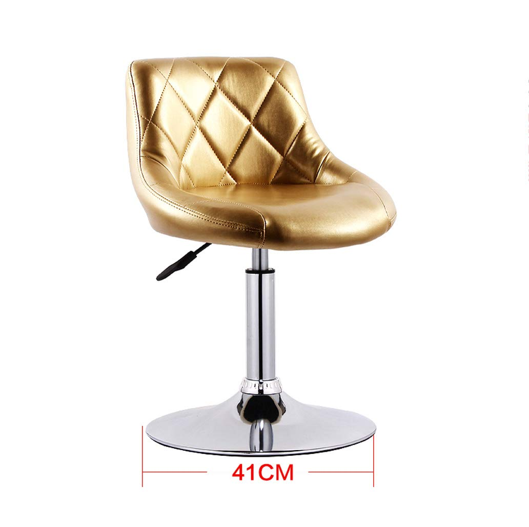 gold Barstools - Barstools Adjustable 360° Bar Swivel Chairs PU with Chrome Frame Breakfast Stool Kitchen Island 0506A (color   Striped White+Black)