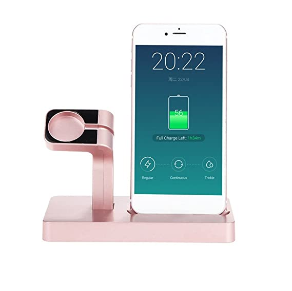 wholesale dealer 8c094 2bc53 Charge Dock Charger For iPhone 7 6S Plus /6/5 For Apple Watch iWatch  Charging Cradle Stand Holder (Rose gold)