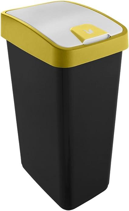 Tous les Crème Touch Top Bin//45 L Poubelle//poubelle//Cuisine//Maison//déchets