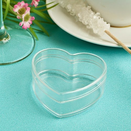 175 Heart Shaped Clear Plastic Box from the Perfectly Plain Collection