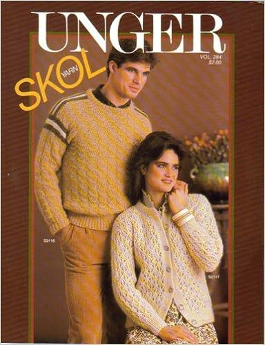 Unger Skol Yarn (Skol Man's Slipover, Lace Skol Cardigan,