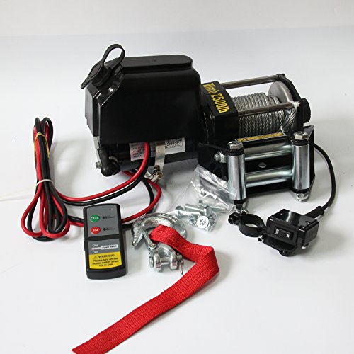 RACPLUS Electric Winches 2500lbs 12V Electric Recovery Wi...