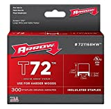 Arrow Fastener 721168HW 10 Pack T72 13/64in. x 31/64in. Hardwood Insulated Staples 300/Box