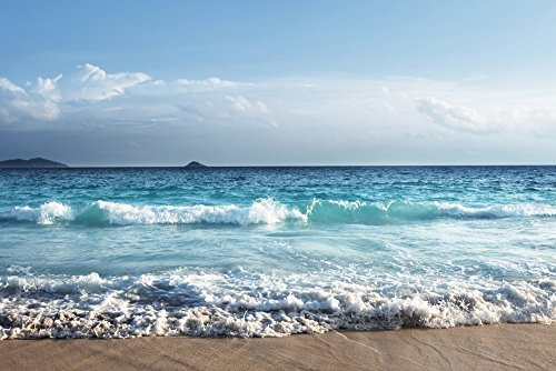 "Sky beach nature beauty - Art Print On Canvas Rolled Wall Poster Print - 36""x24"" (90x60cm) - Unframed from GLITZFAS"
