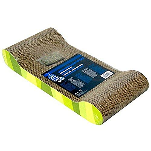 Catit Style Scratcher with Catnip – Jungle-Stripe Lounge